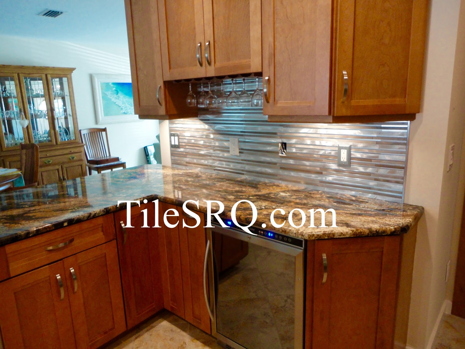 Tile sarasota this is a anodized aluminum tile backsplash that posted by tile sarasota at 611 pm dailygadgetfo Gallery