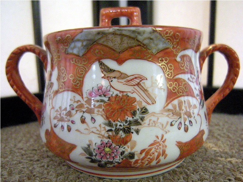 Japanese Kutani porcelain tea set, marked Kutani Zo 九谷ぞ