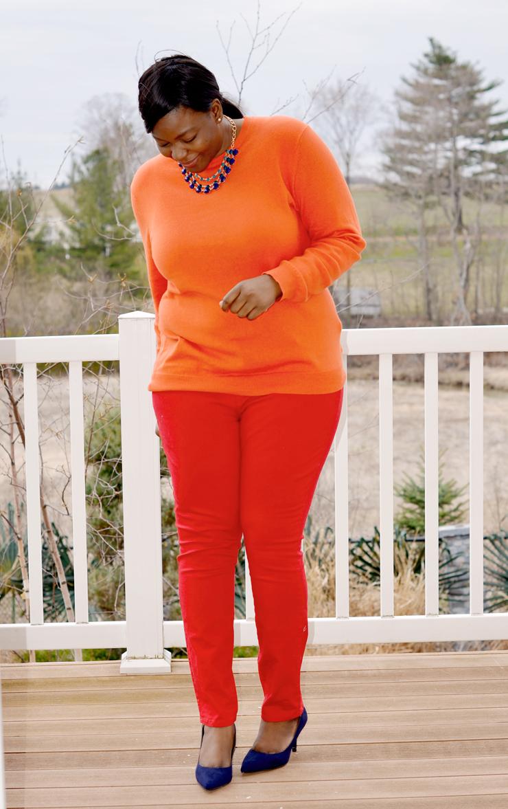 PLus size fashion/ how to: monocromatic look #mycurvesandcurls