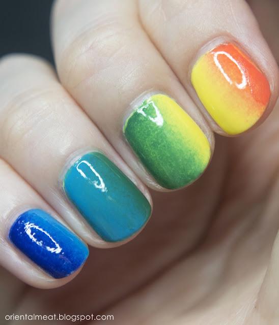 31DC2015-Rainbow nails
