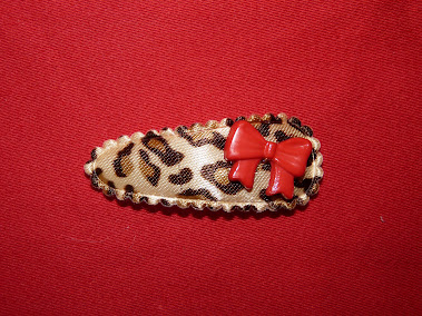 leopard bow haircandy