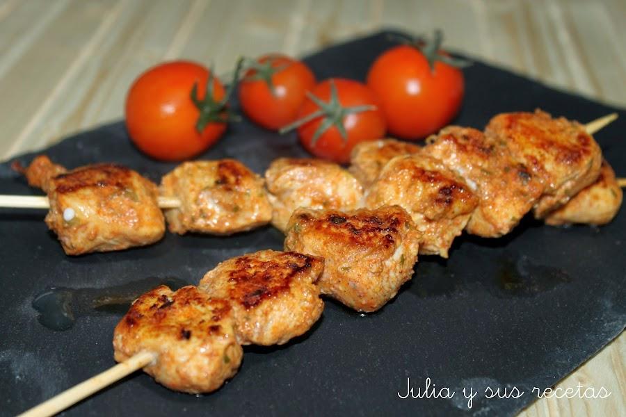 Tapas y pinchos - Como preparar pinchos de pollo ...