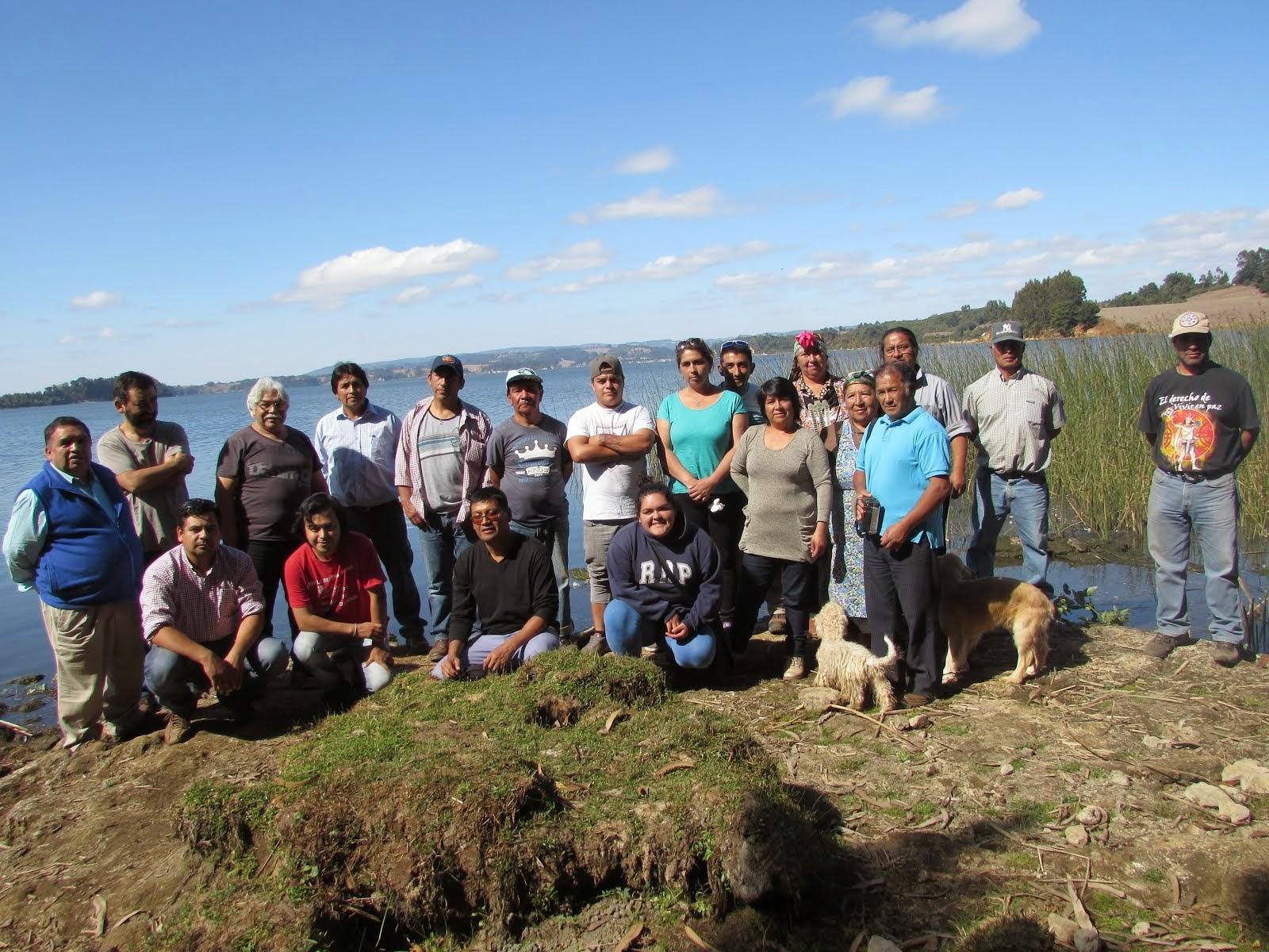 Imag. Personas Participantes en el Encuentro de Radios Mapuches del Wallmapu 28 y 29 de Marzo.