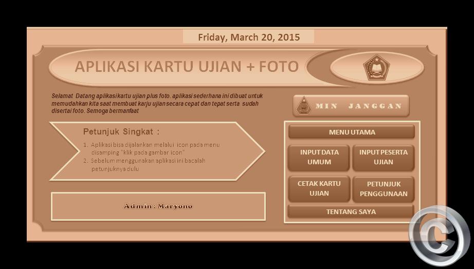 Aplikasi Cetak Kartu Un Tahun 2015 Jenjang Sd Mi Dan Smp