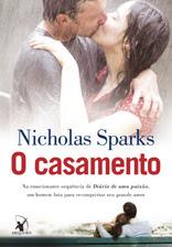 Capa do livro O Casamento, de Nicholas Sparks
