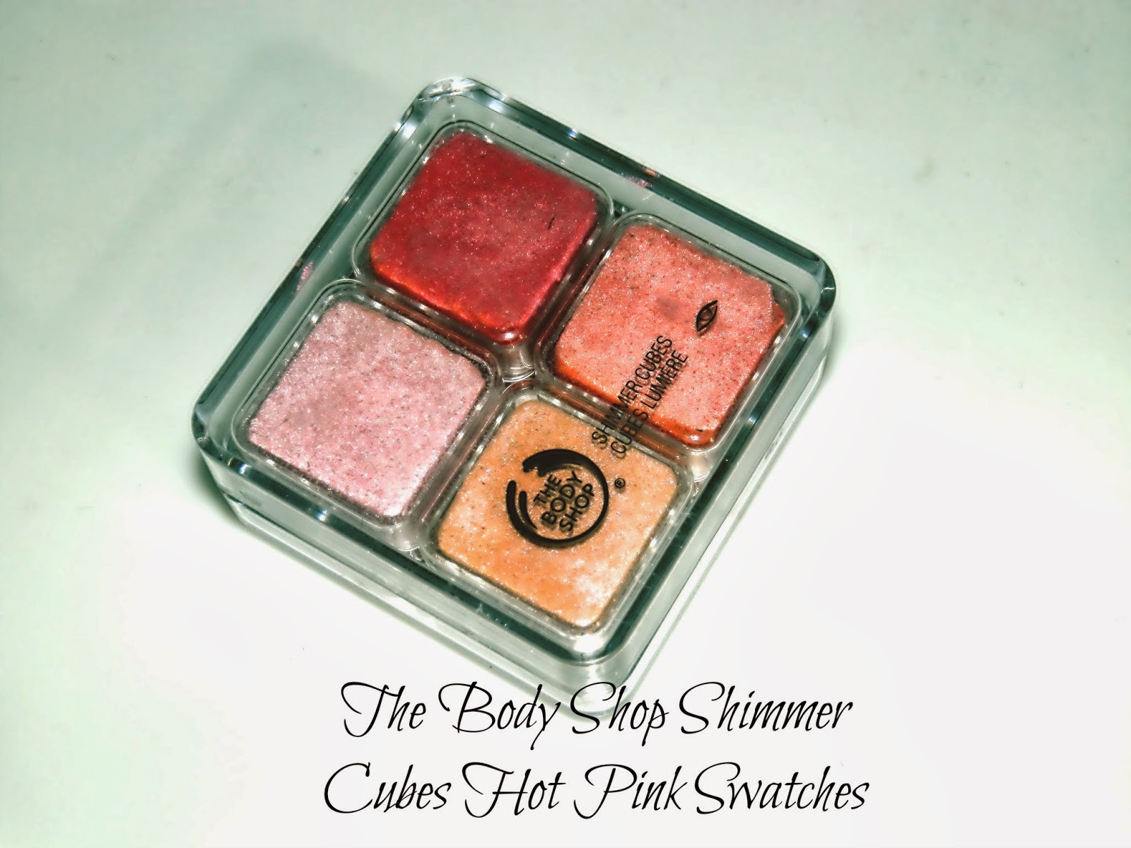 The Body Shop Shimmer Cubes Hot Pink Swatches