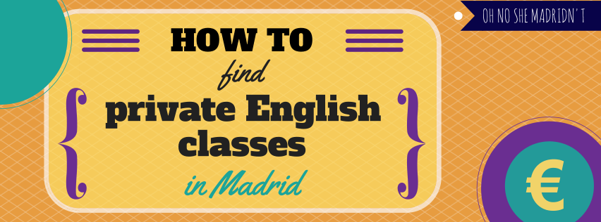 How to find private English classes in Madrid
