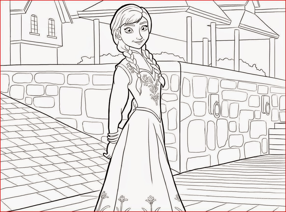 Coloring Pages Elsa from Frozen
