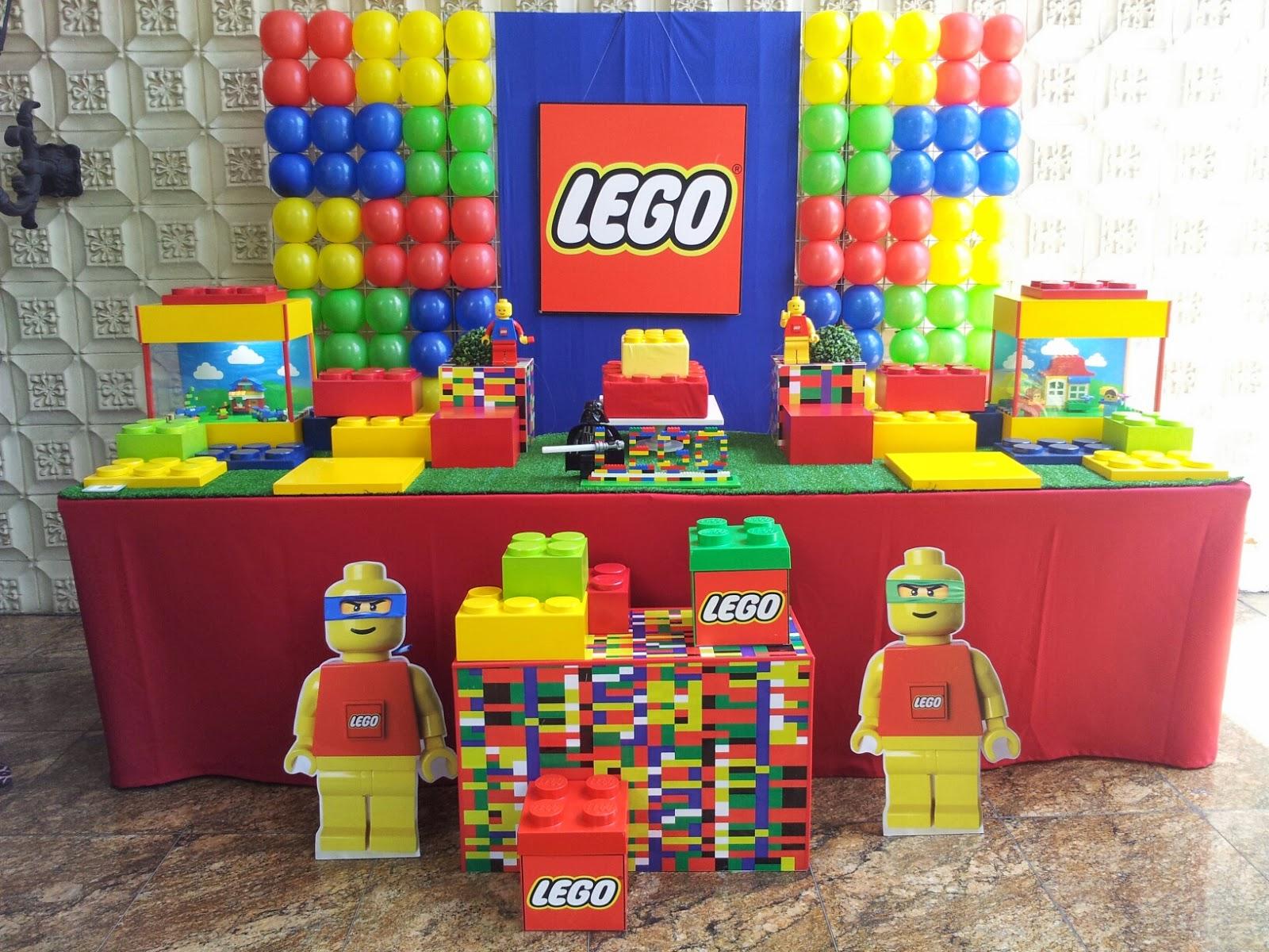 Farolita Decoração de Festas Infantis: LEGO - NOVO PAINEL DE BALÕES