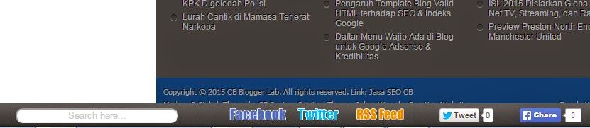 Navigasi Menu Bar Statis di Footer Blog