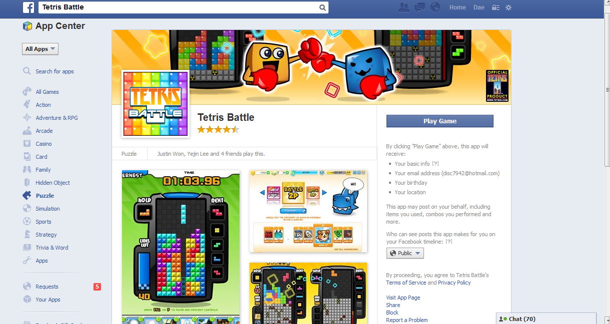 facebook users addicted to tetris battle News upgrade your pc hardware during amazon's one-day sale news pc gamer newsletter subscribe to get the best content of the week, and great gaming deals.