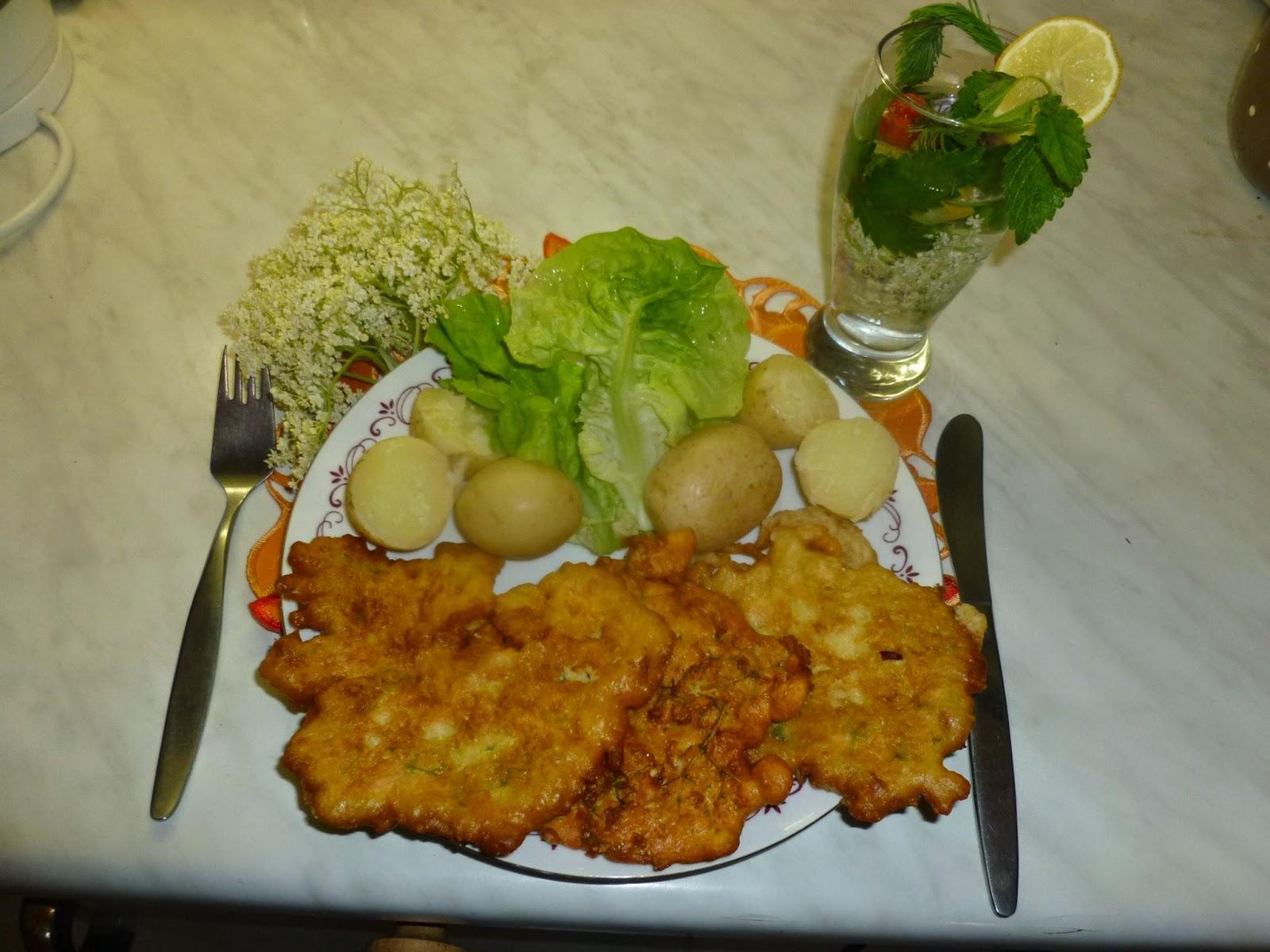 NAŠE KUCHYNĚ: Kosmatice Ke zdravému pití zdravý oběd květy bezu v těstíčku