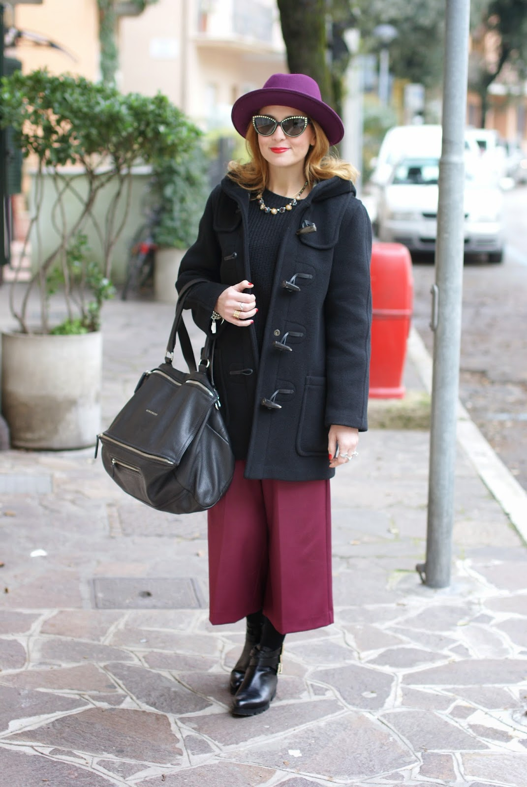 Gloverall montgomery coat, Givenchy Pandora bag, Ecua-Andino hat, Fashion and Cookies, fashion blogger