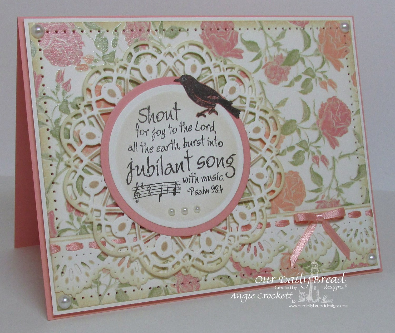Stamps - Our Daily Bread Designs Music Speaks, ODBD Custom Beautiful Borders Dies, ODBD Custom Doily Dies