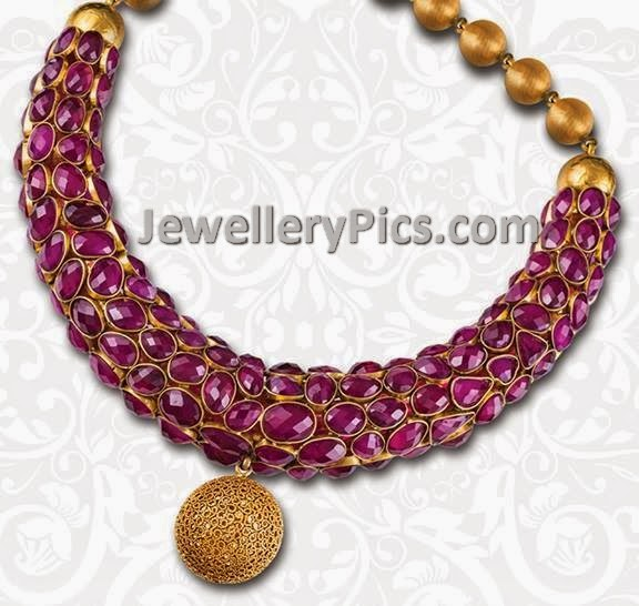 designer ruby kada necklace