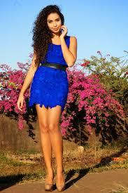 modelo de vestido tubinho de renda azul - dicas e fotos