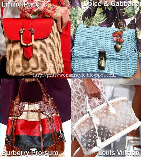 Сламени и прозрачни чанти Пролет/Лято 2012