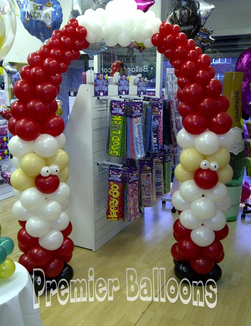The very best balloon blog ho ho ho and all things santa for Christmas arch diy