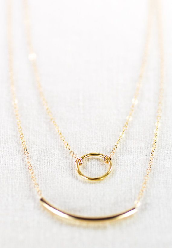 Double Layered Gold Filled Necklace
