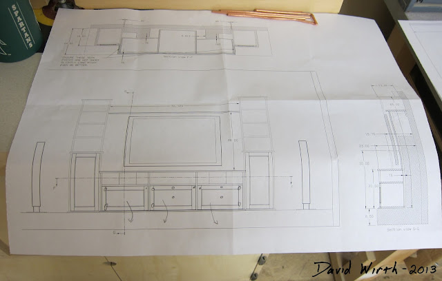tv stand plans, entertainment center cad plans