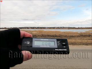 Измерение радиации на юге Петровичского водохранилища