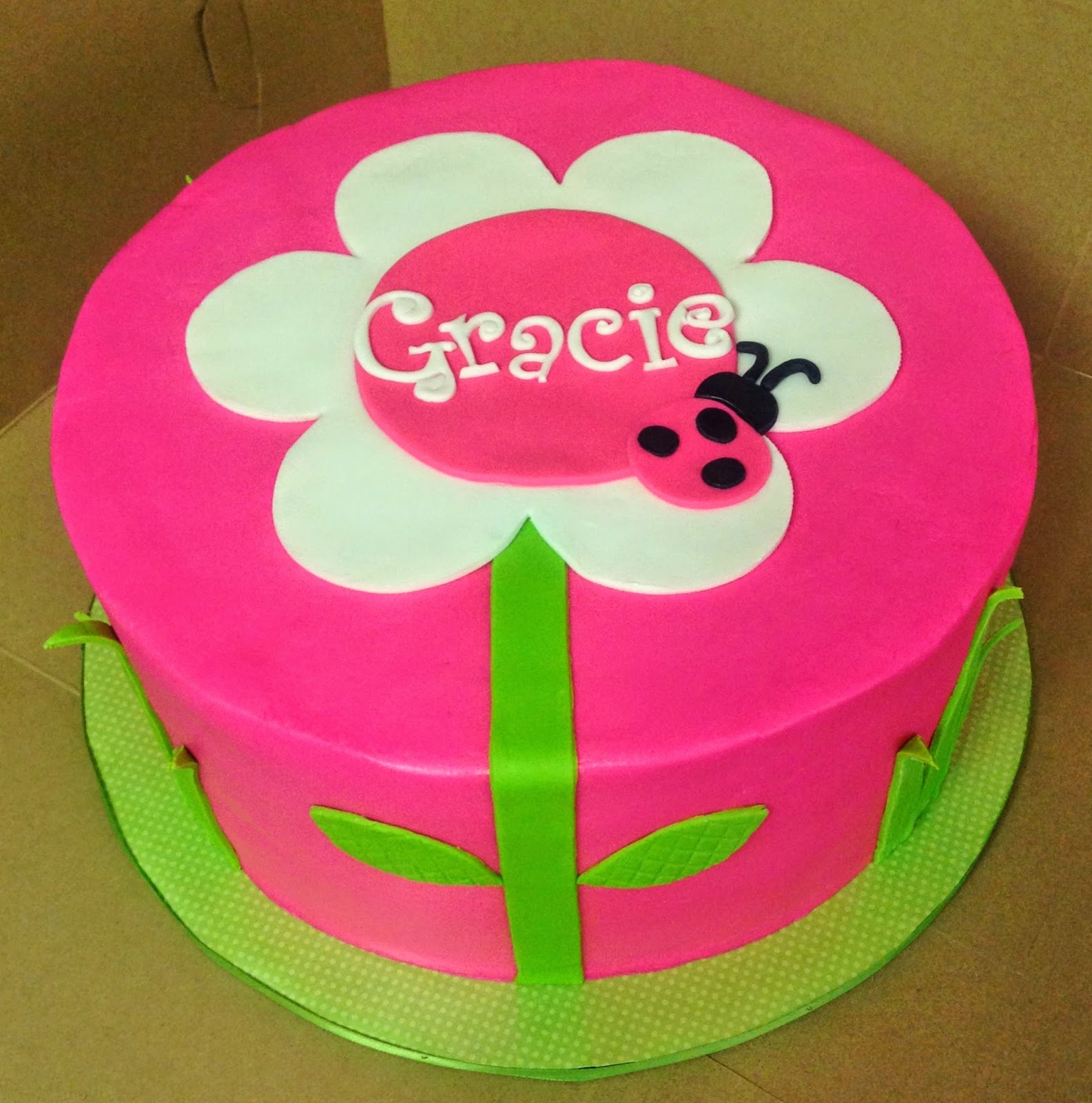 Cakes By Mindy Pink Flower Cake 10