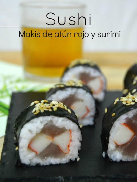 Cómo hacer sushi en casa: Makis de atún rojo y surimi