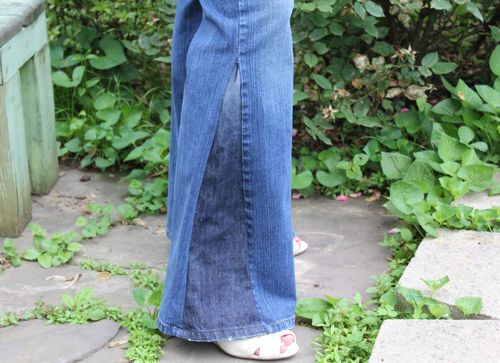 DIY Bell Bottom Jeans | HelloNatural.co