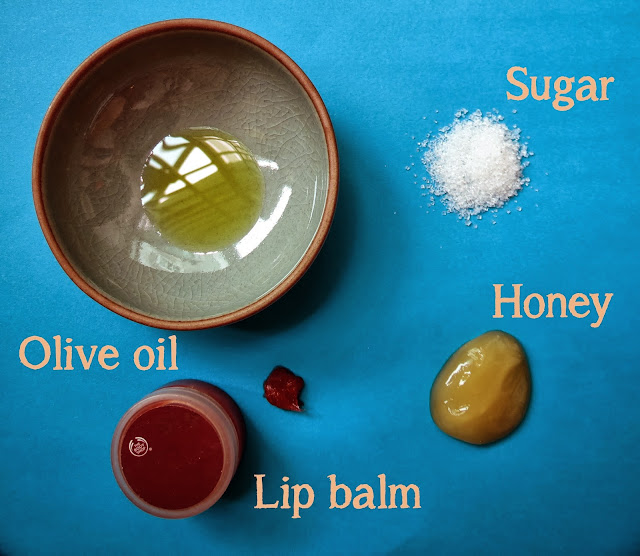 DIY Lip scrub ingredients