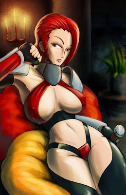 cartoon warrior babe fantasy art