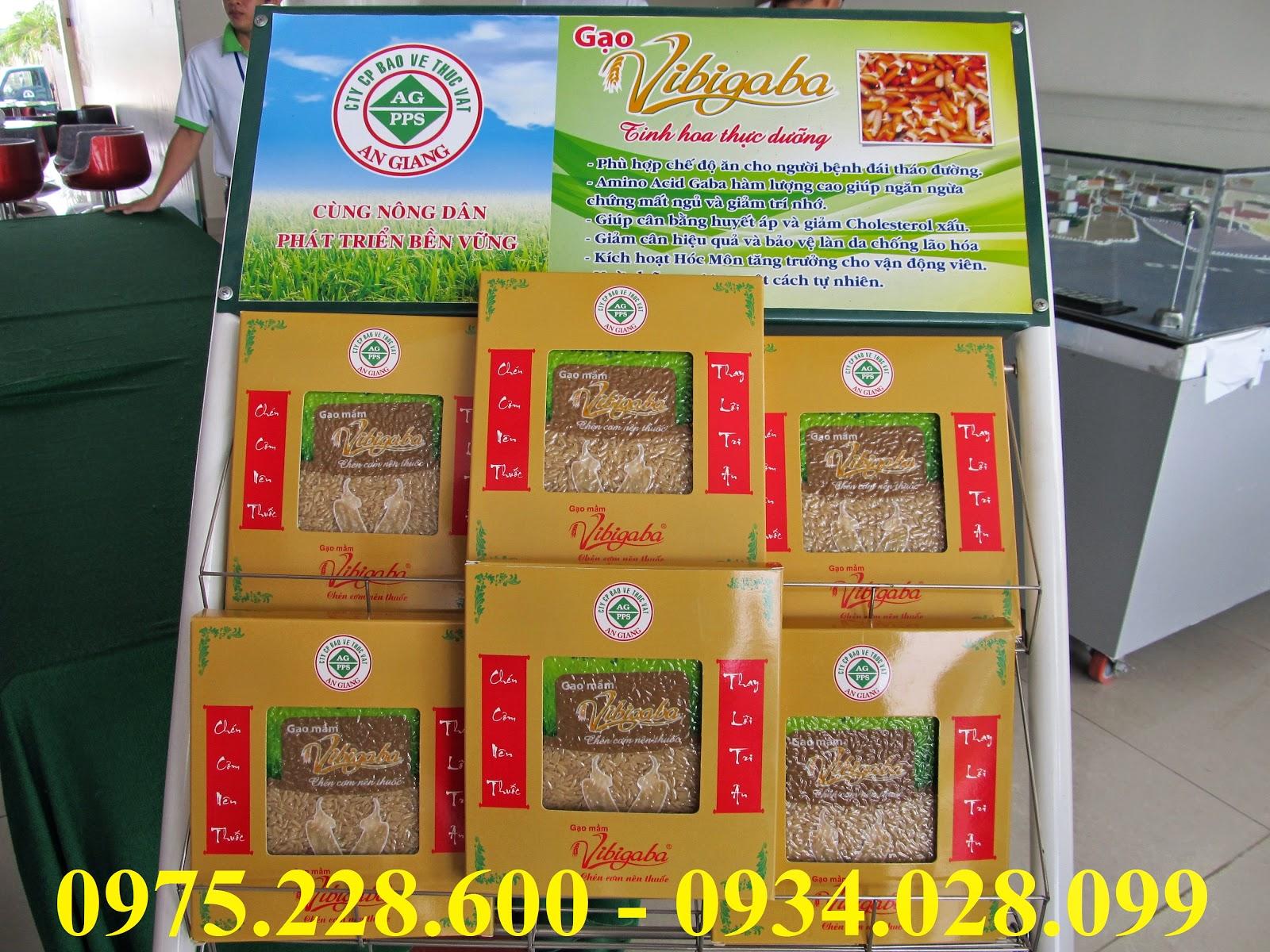 gạo mầm vibigaba được đóng gói ép chân không Khối lượng: 75.000/1kg