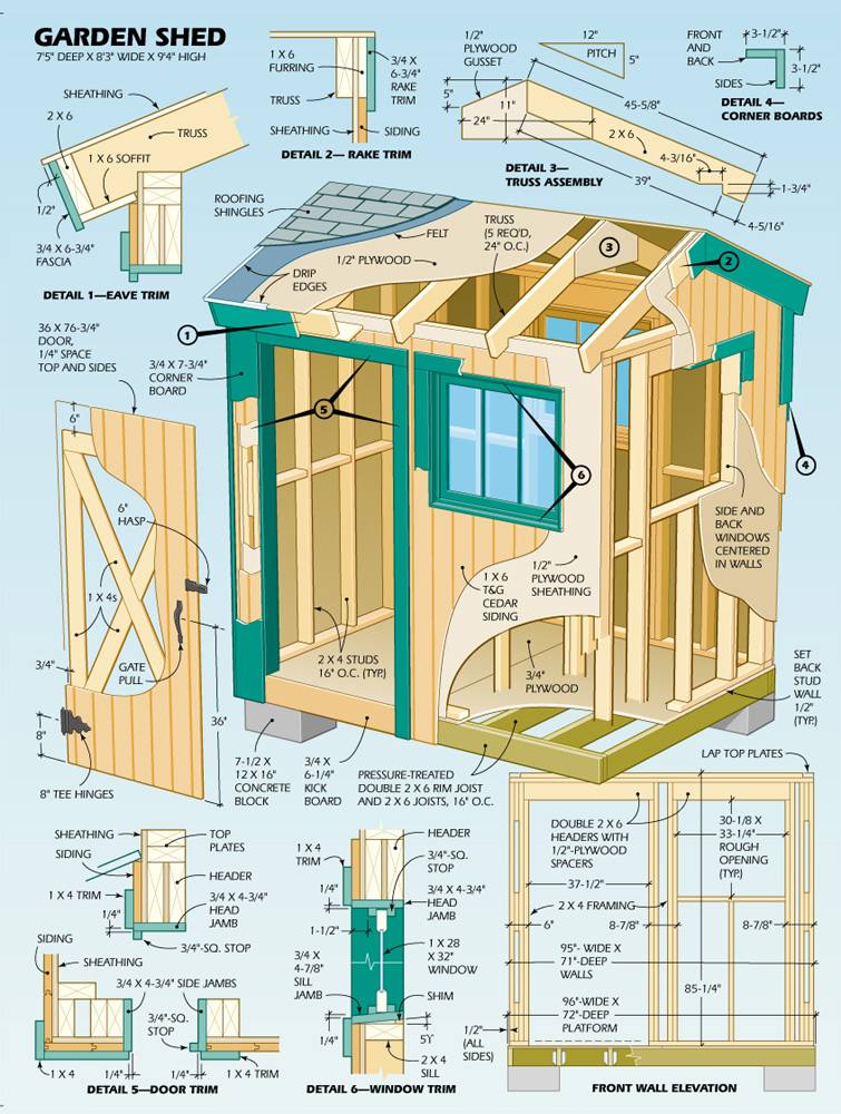 Lloyd's Blog: Plans for 7' x 8' Garden Shed