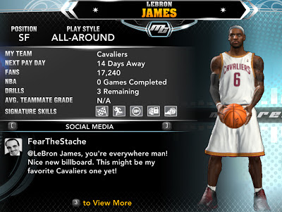 NBA 2K13 Play as LeBron James in MyCareer