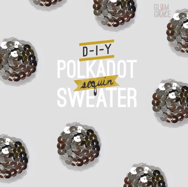 DIY sequin polka dot sweater