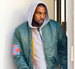 Kanye West Wearing Confederate Flag