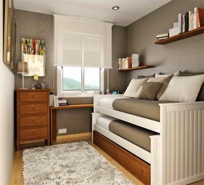 desain ruang tidur mungil minimalis