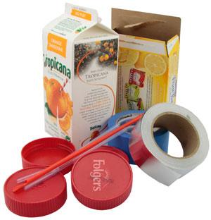 materiales cajas de cereales caja de carton de jugo o leche tapas de