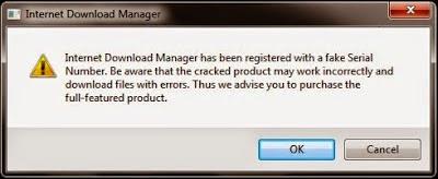 Menghilangkan Fake Serial Number IDM