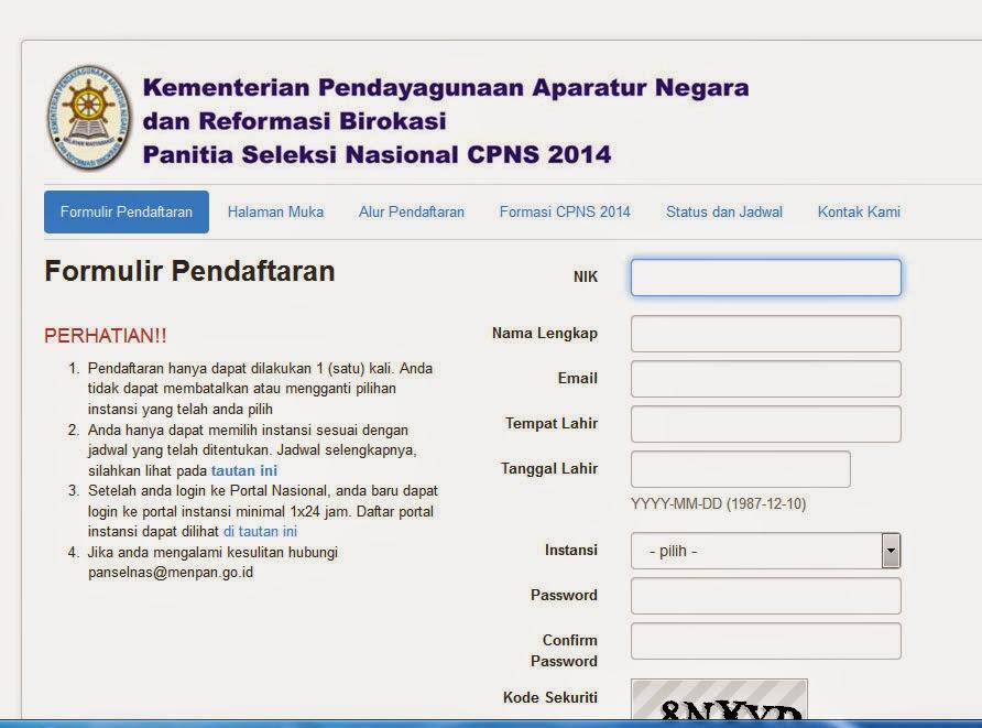 Mengatasi Nik Bermasalah Di Form Pendaftaran Cpns 2014 Omkacili