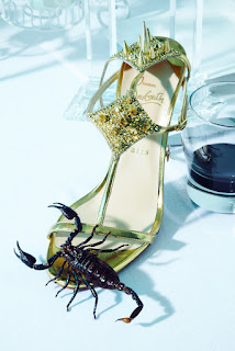 scorpion, christian louboutin shoe, delicacies, still photography