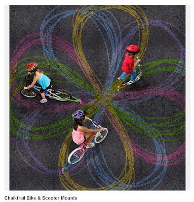chalktrail bike. Bicicleta e trotinete com giz. Original gift