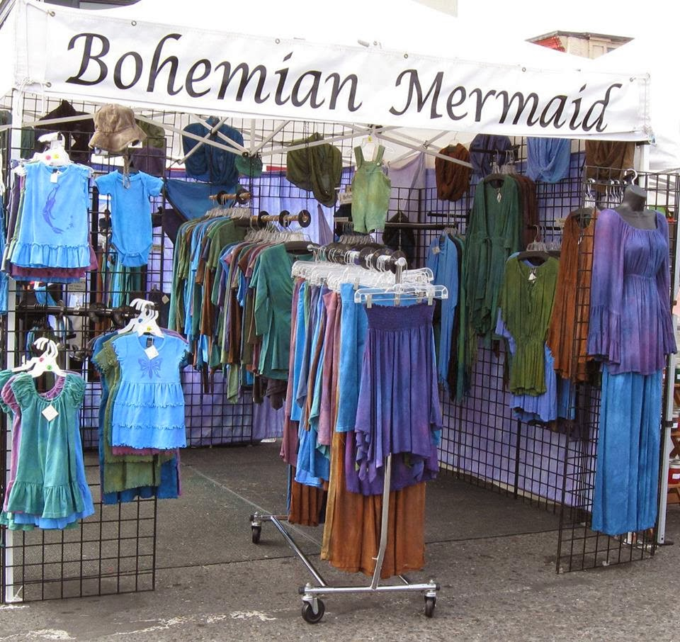 Bohemian mermaid palace start selling at craft fairs 2 for Clothing display ideas for craft shows