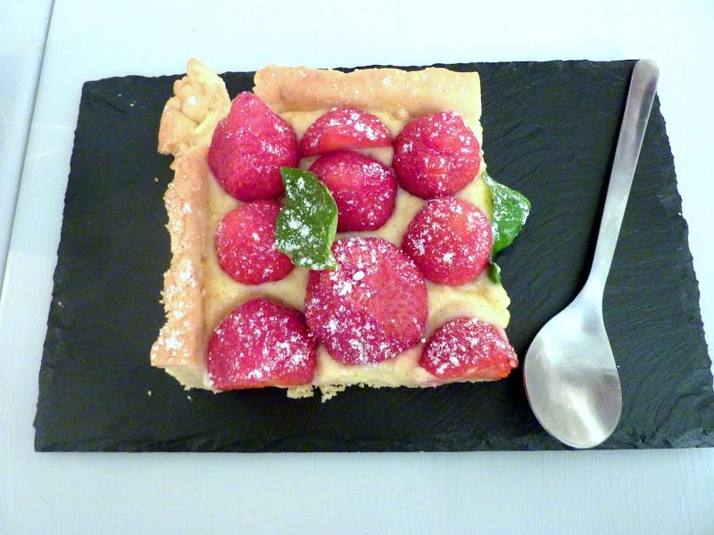 Tarte aux fraises express, crème pâtissière...