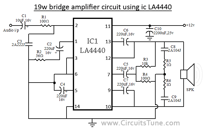 la4440 amplifier circuit circuitstune rh circuitstune com 4440 amplifier board wiring diagram 4440 ic board wiring diagram