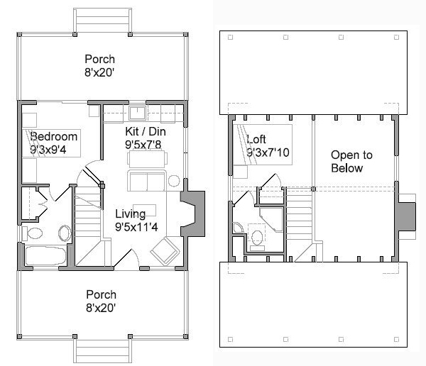 Cabin Plans Additionally House Plans With Open Floor Likewise 7 Prefab