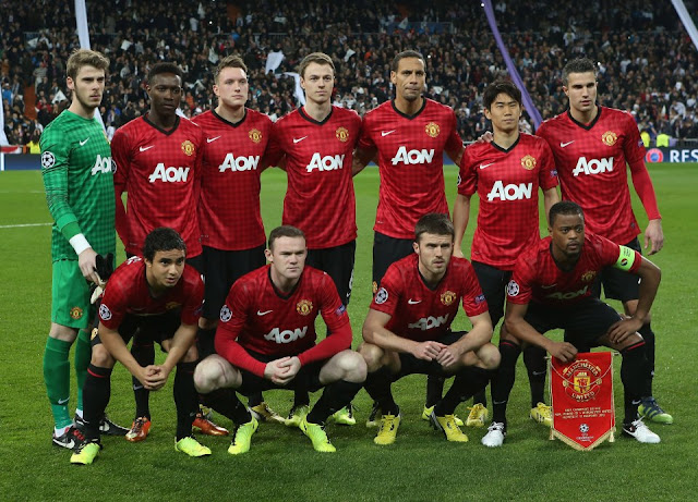 wallpaper pictures Manchester united squad vs real madrid 1-1