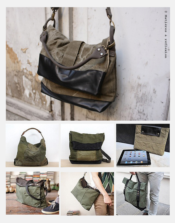 Sélection de sacs,besaces et petite maroquinerie de Matières à réflexion
