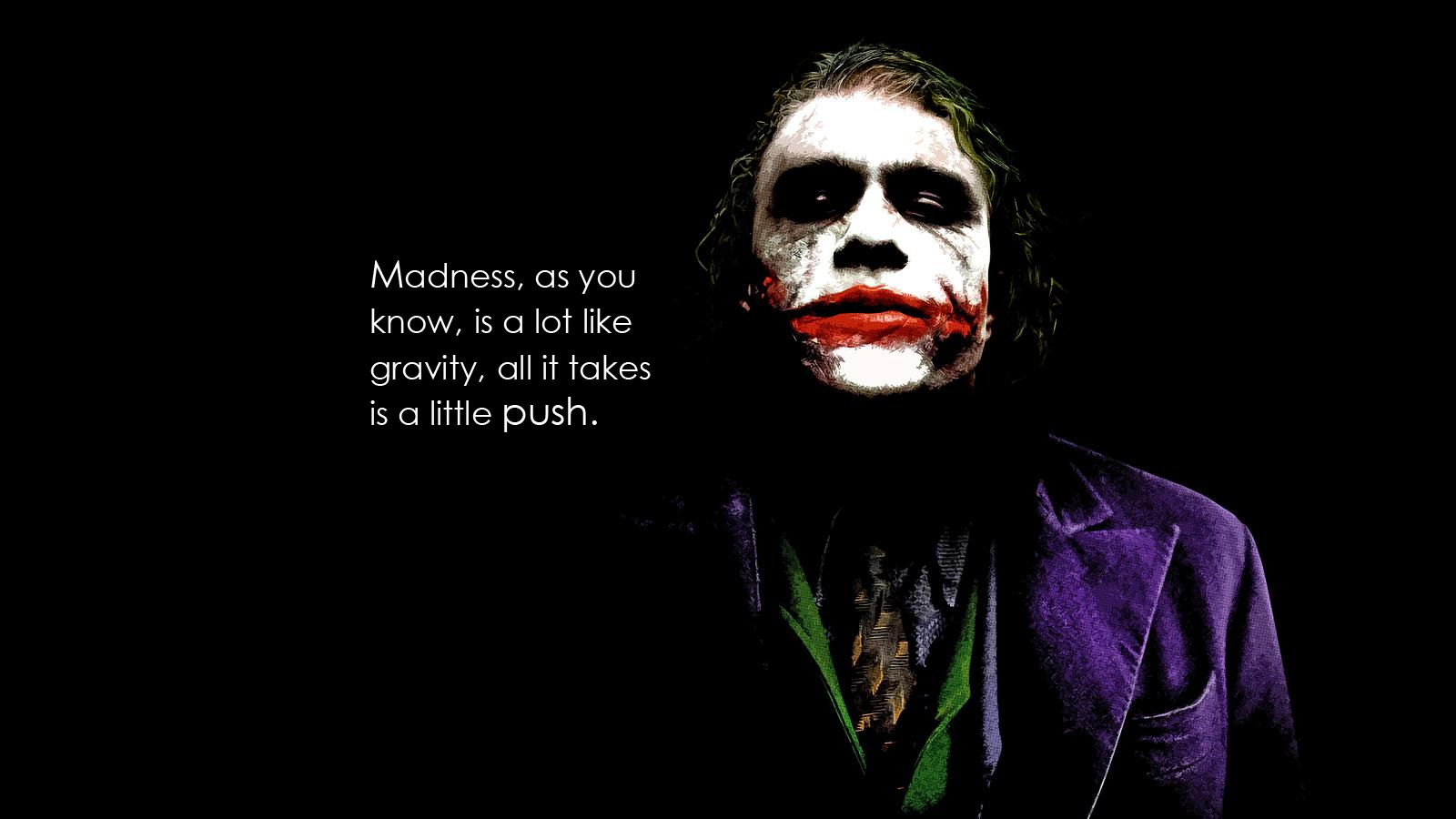 Joker Love Quotes : The Joker Quotes Heath Ledger. QuotesGram