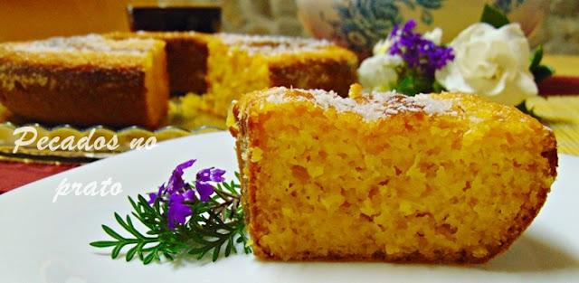 Receita de bolo de milho húmido e cremoso