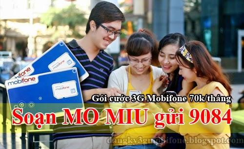 Cú pháp đăng ký 3G Mobifone 70k